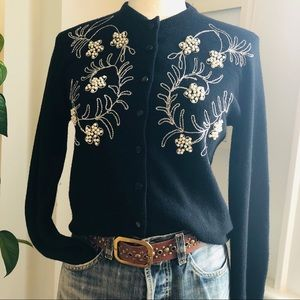 Stunning vintage 50s beaded embroidered sweater
